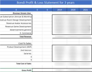 Bondi Profit and Loss - Case Study
