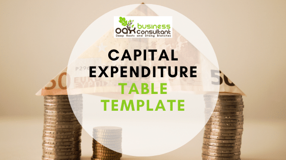 Capital Expenditure Table Template