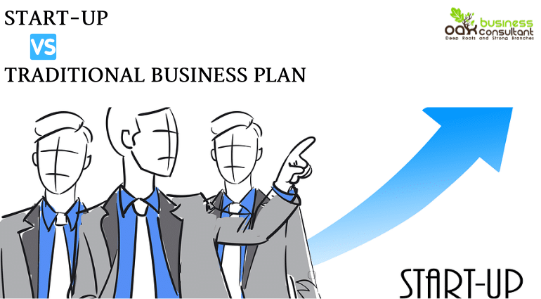 Startup Vs Traditional Business Plan - Cover