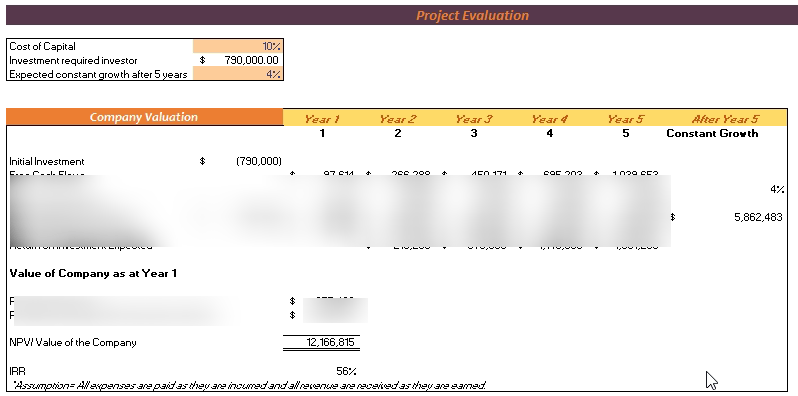 Brewery Financial Model Project Evaluation