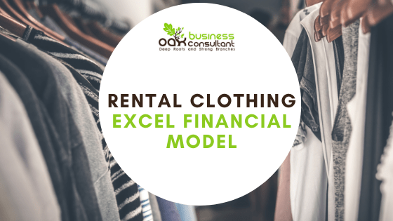 rental clothing financial model cover photo