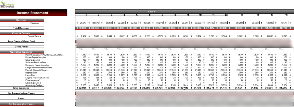 CPR_Financial_Model_Monthly_Income_Statement