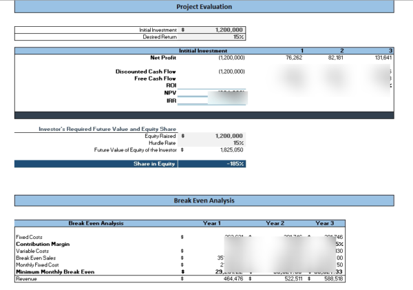 Co-working_Excel_financial_Model_analysis
