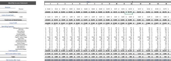 Online_Electronic_Store_Excel_Financial_Model_Monthly_Income_Statement