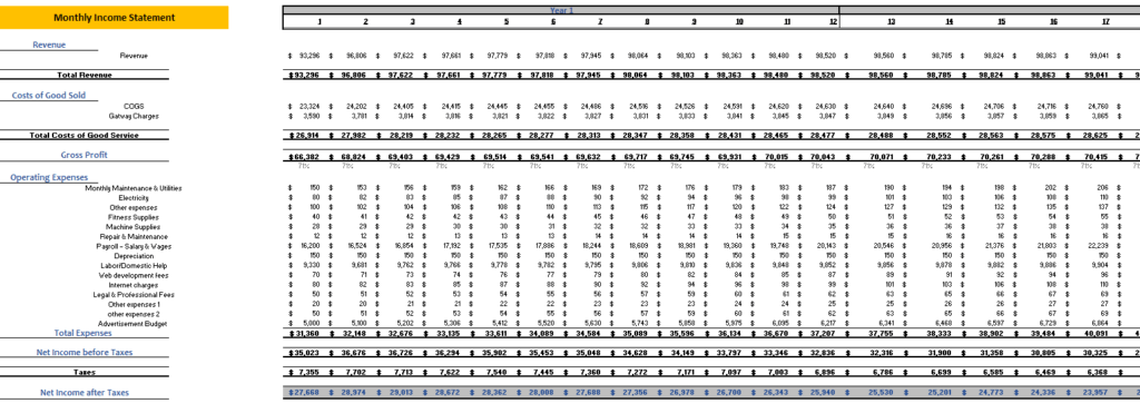 Online_Pet_Store_Excel_Financial_Model_Monthly_Income_Statement
