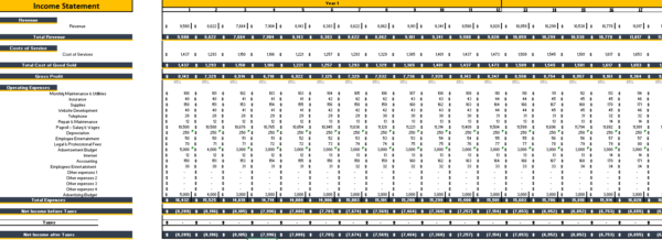 Salon_Booth_Rental_Excel_Financial_Model_Monthly_Income_Statement