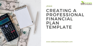 Creating A Professional Financial Plan Template