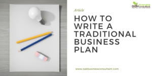 how to write a traditional business plan
