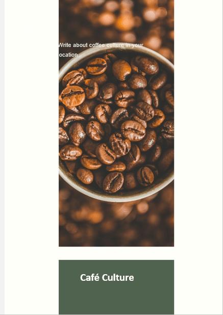 Coffee Shop Business Plan Café Culture