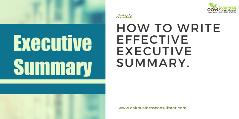 How to Write effective Executive Summary