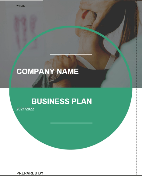 Chiropractor Business Plan cover_page