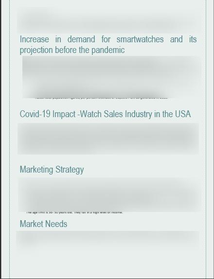 Wristwatch Business Plan