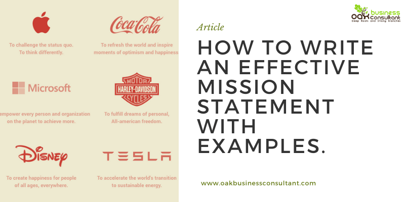 How to write an effective Mission Statement with Examples