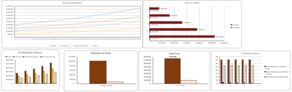 Courier Service Financial Model Dashboard