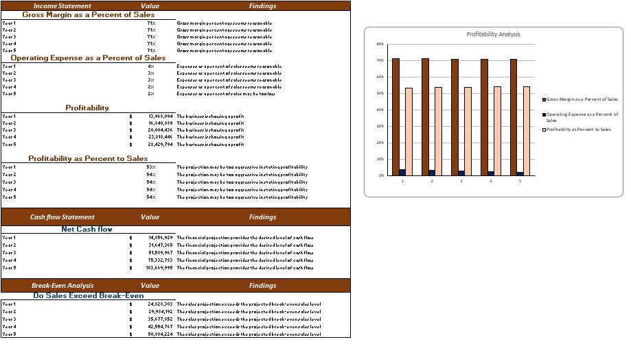 Courier Service Financial Model diagnostic tools