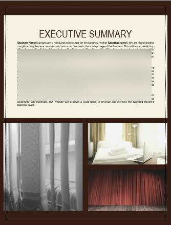Curtain Business Plan Executive summary