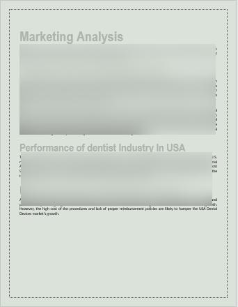 Dental Laboratory Business Plan market analysis