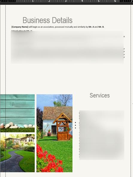Landscape Business Plan Details
