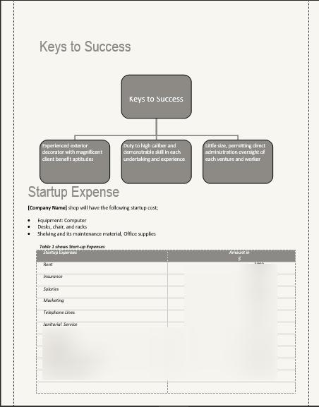 Landscape Business Plan Keys to Success