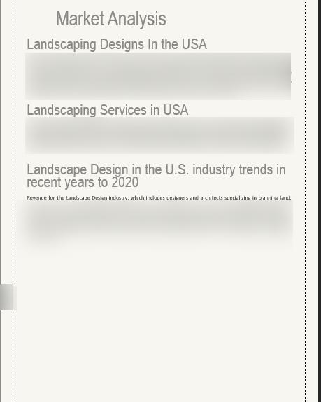 Landscape Business Plan Market Analysis USA