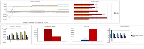 Poultry Farm Excel Financial Model Dashboard