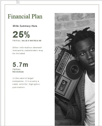 Radio Broadcasting Business Plan Financial Plan