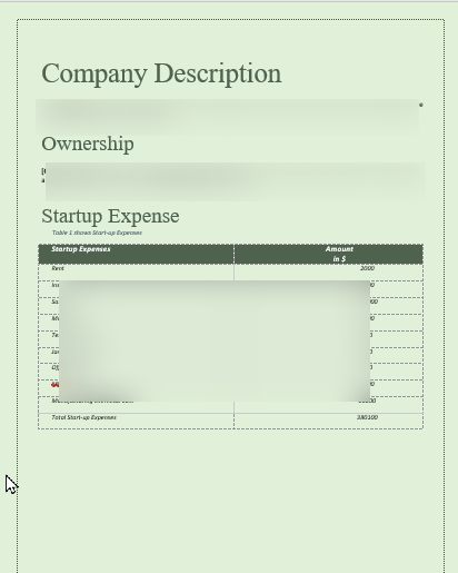 start-up expense