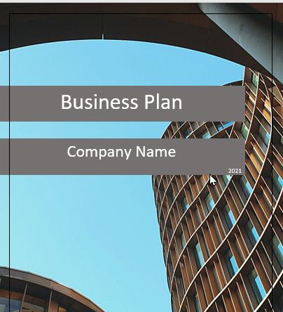 Architecture Business Plan Cover