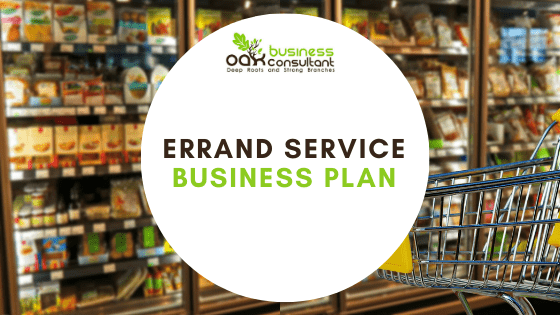 Errand Service Business plan cover photo