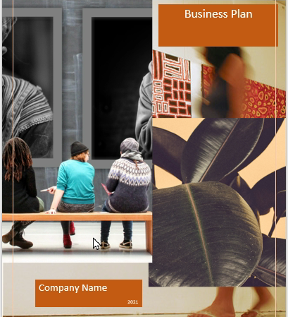 Art Gallery Business Plan cover