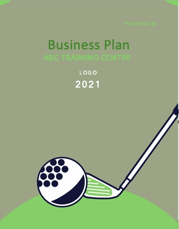 Golf training Business plan cover