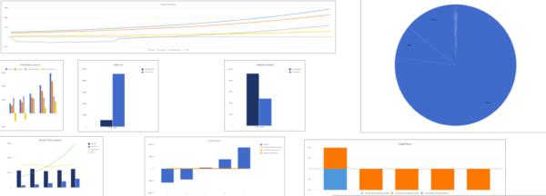 Gym financial model dashboard