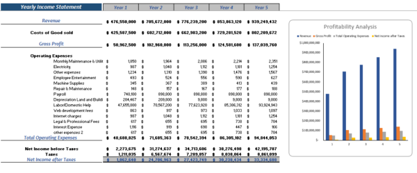 Original Equipment Manufacturer Financial Model Yearly Income Statement