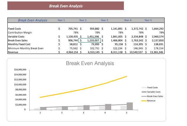 Dermatology Center Excel Financial Model Template Breakeven Analysis