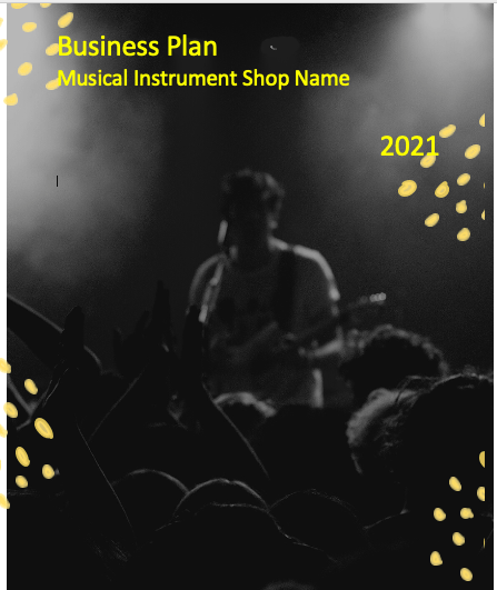 Music Instrument Business Plan cover
