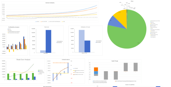 Weight Loss Excel Financial Model Template dashboard