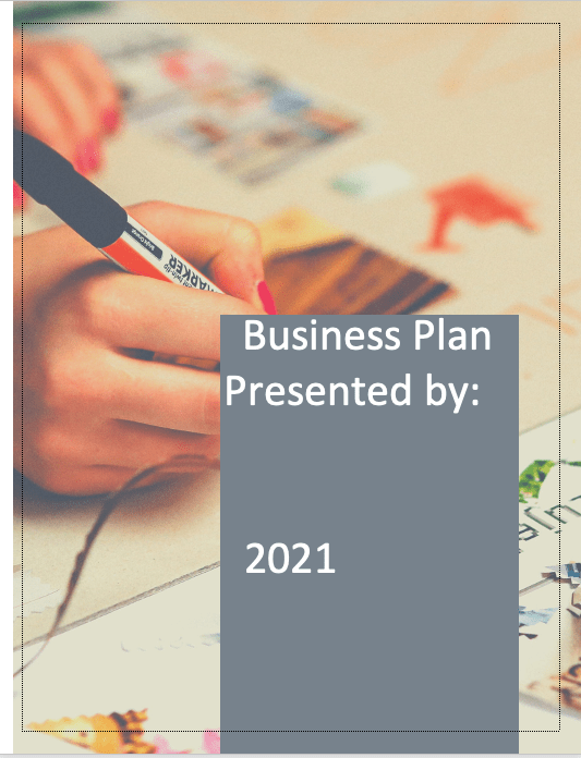 Graphic Design Business Plan cover