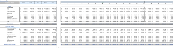 Fitness Subscription Excel Financial Model Template Balance sheet